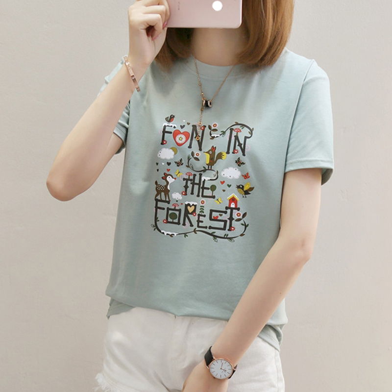 Harajuku White T shirt Women Tshirt Cotton Vintage Plus Size Female T Shirt Women Tops Haut Tee Shirt Femme 2019 Summer White in T Shirts from Women 39 s Clothing