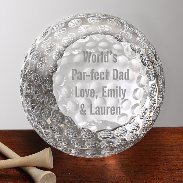 Personalized Premium Crystal Golf Ball Award Trophy Paperweight Gift Packing