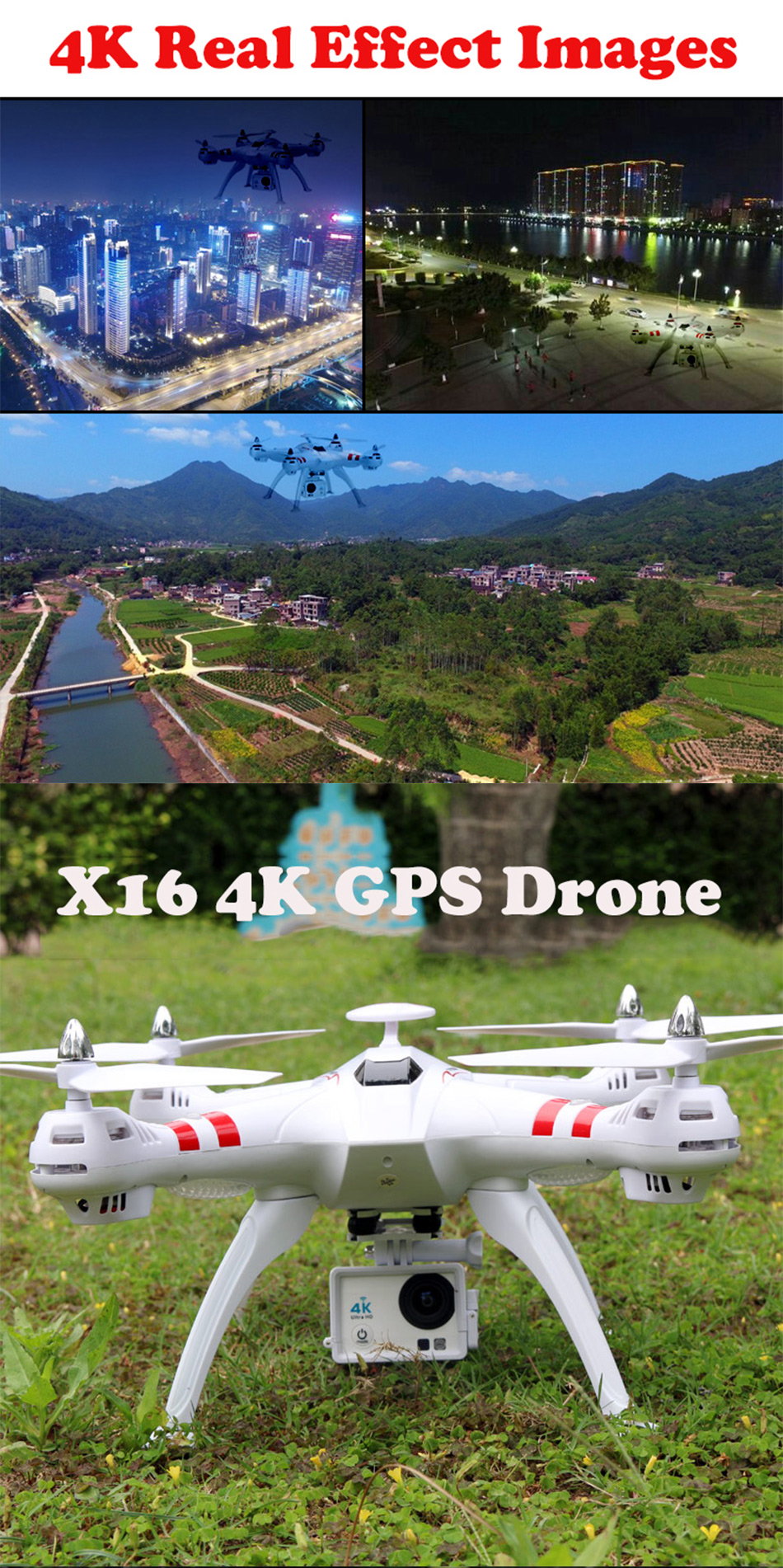 X16 rc drones with camera hd dron GPS height 500 meters fly distance Fpv quadcopter rc helicopter Brushless Motor 4K 1600W Toys 2