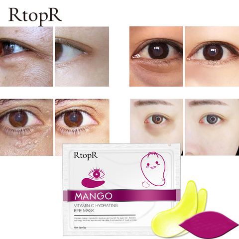 RtopR 30 Pairs Green Algae Collagen Eye Mask for Face Anti Wrinkle Gel Sleep Gold Mask Eye Patches Under The Eye Bags TSLM2 Karachi