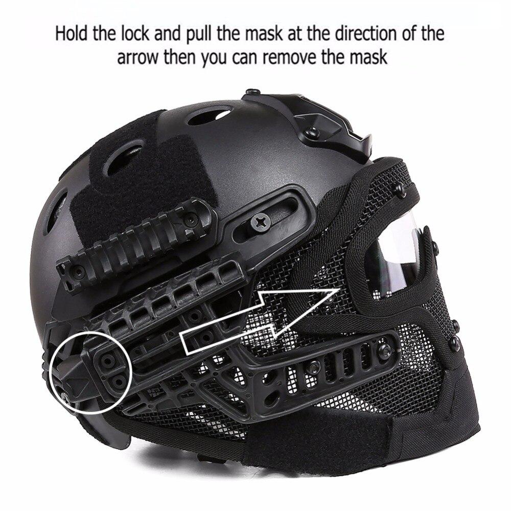 Nuovo G4 Tactical Completa Viso Copertura Maschera di Protezione del Casco con Goggle per PJ Vent Airsoft Paintball WarGame CS Tattica di Caccia