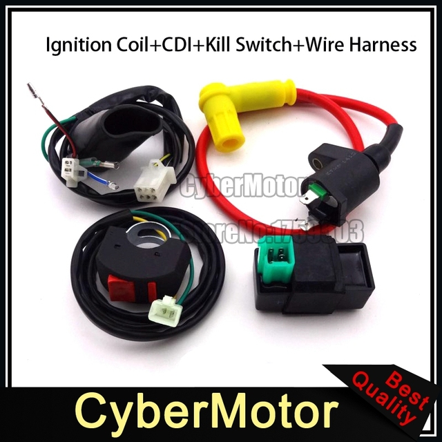 Wiring Loom Harness Kill Switch Chinese Pit Dirt Bike 50cc ... on
