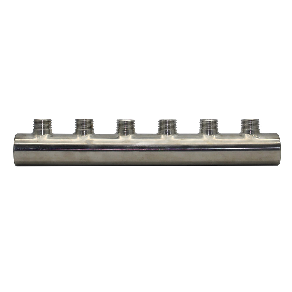 Steel Water Distribution Manifold for Underfloor Heating System(3-6 port) floor heating system accessories stainless steel 304 water distribution manifold for underfloor heating system 2 10port