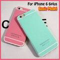 Cor de doces bonito caixa do telefone para apple iphone 6 caso brilho suave tpu capa para iphone 6 s plus 4.7 5.5 polegada hortelã granel por atacado