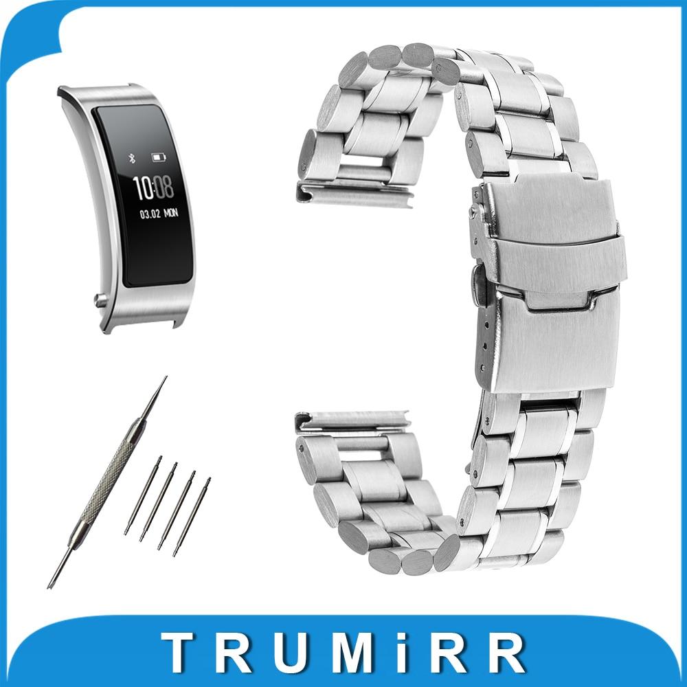 16mm Stainless Steel Watch Band + Tool for Huawei Talkband B3 Women'   Buckle Strap Wrist Beltt Bracelet