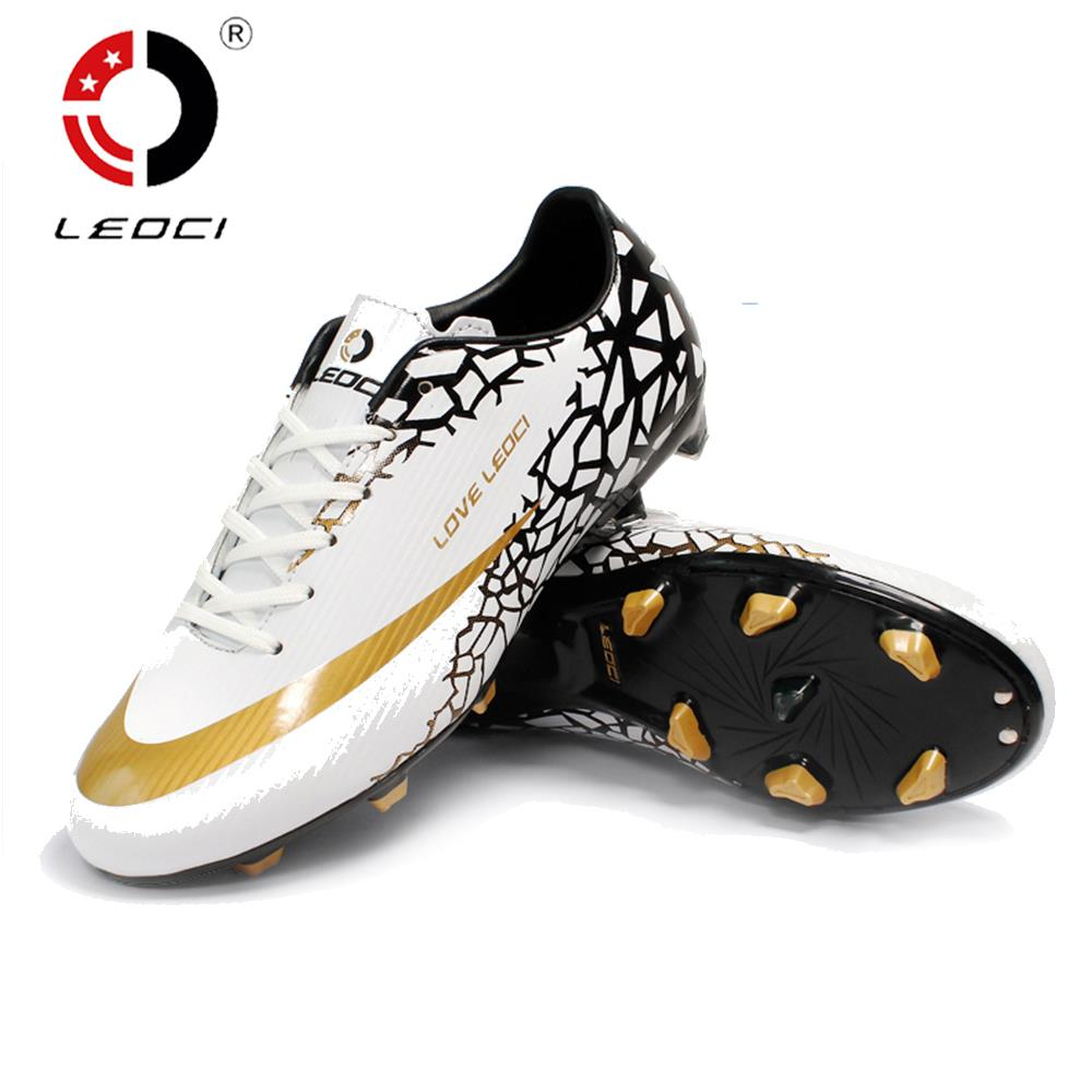 hot sale online c7db9 f76ba LEOCI Anti-Collision FG Football Shoes Firm Ground Soccer Boots Crampons De  Football for Men Women Children Size 33-44