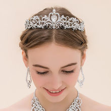Crystal Bridal Wedding Jewelry Crown Tiara Headband Hair Accessories Bling Bling Girl's Prom Homecoming Quinceanera Headwear