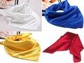Горячие Продажи Сплошной Цвет Небольшой Площади Атласный Искусственный Шелк Шарф для женщин Повелительниц Шарфы Платок 60 см * 60 см