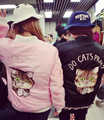 Бомбардировщик куртка женщин 2016 весной и осенью HARAJUKU мягкий розовый вышивка кошка бомбардировщик куртка женщин основные пальто (A5821)