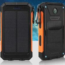 Внешний аккумулятор на солнечной батарее, 20000 мА/ч, двойной USB, внешний, водонепроницаемый, полимерный аккумулятор, зарядное устройство, внешний свет, лампа, Powerbank Ferisi