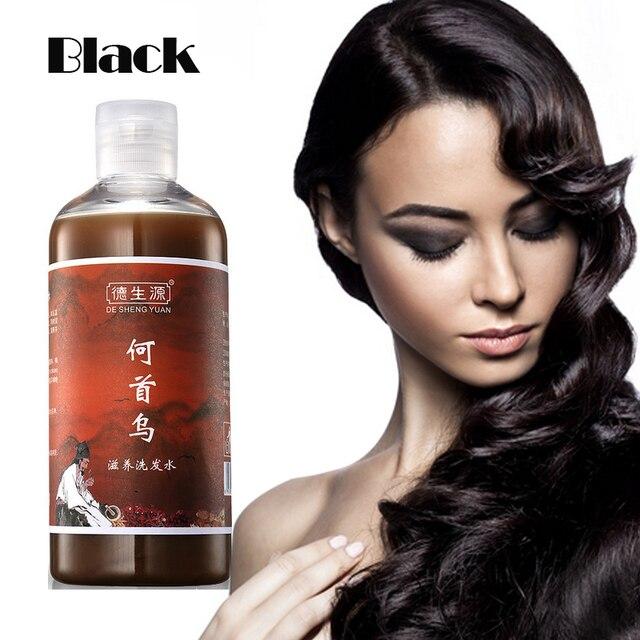 Chinese medicine DSY Hair Blacken Shampoo, Anti White Hair Shampoo Treatment Black Brunette Moisturizing Hair Care Conditioner