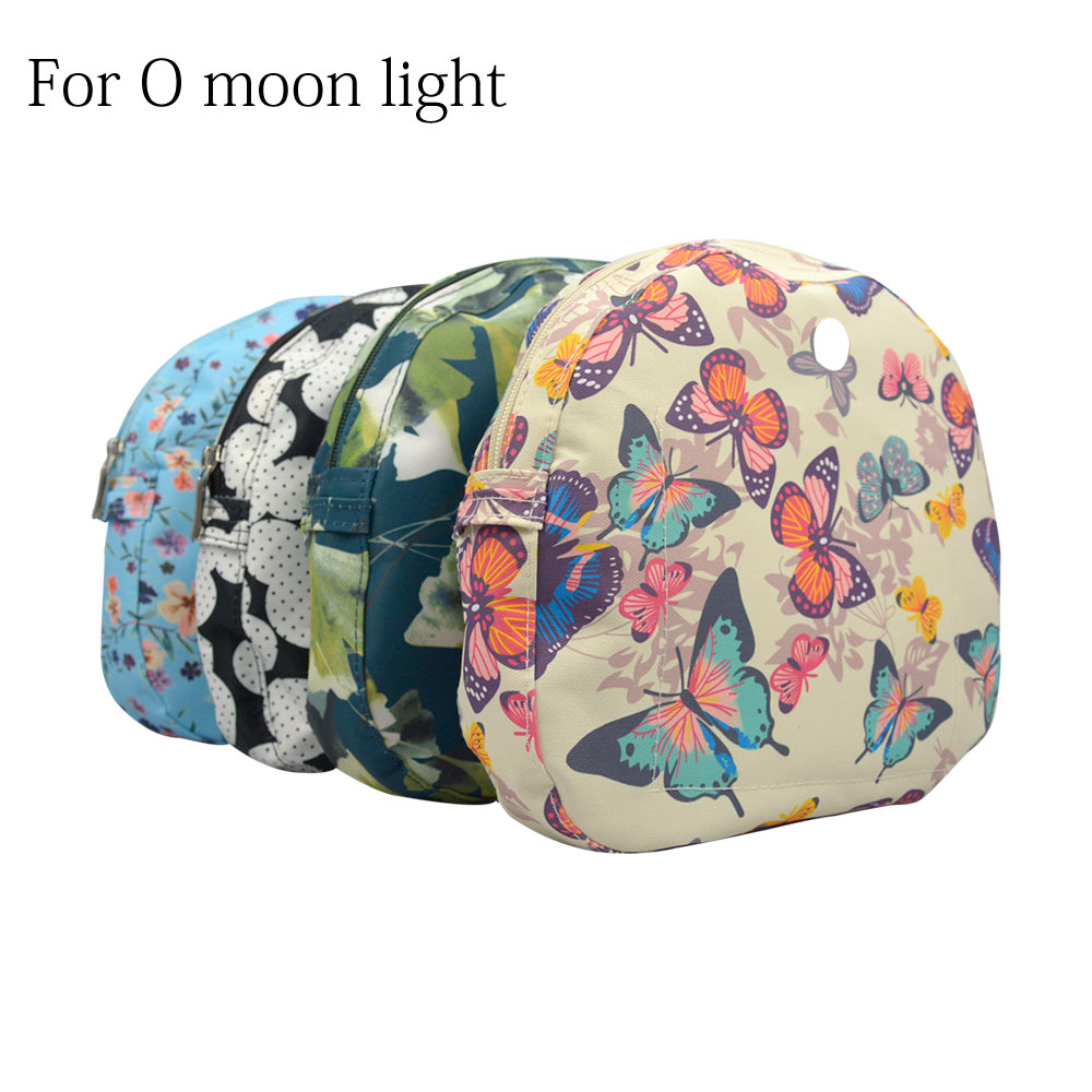 New Floral Composite Twill Cloth Waterproof Inner Lining Insert Zipper Pocket For O Bag  Obag Moon Light For O Moon Baby