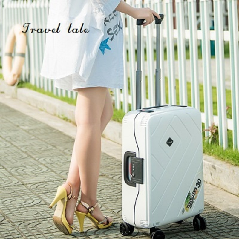 Travel tale new fashion contracted 20 24 26 High quality PP Rolling Luggage Spinner brand Travel