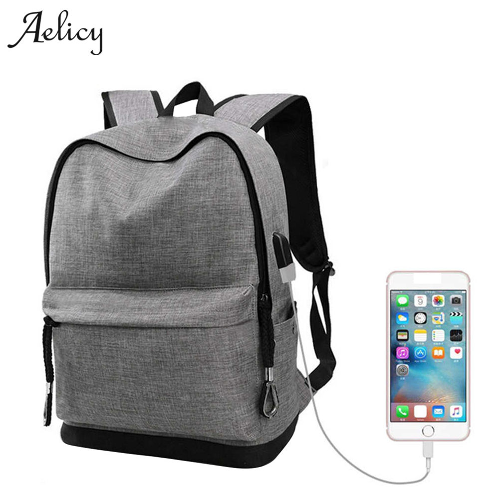 Aelicy 2 Colors canvas backpack for teens Casual Back Pack Large Capacity male Canvas Bagpack High Quality Backpacks Bag 0929