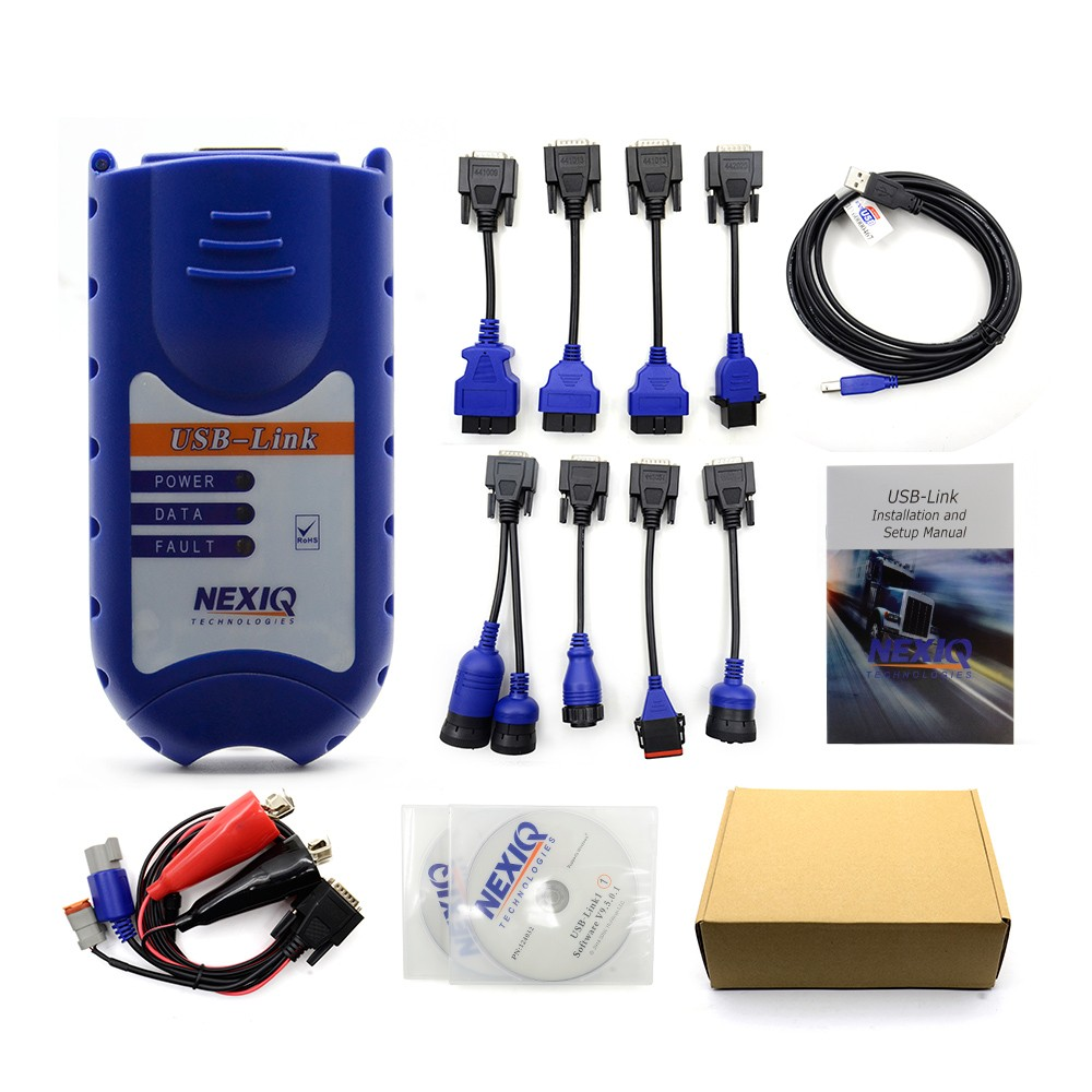 все цены на NEXIQ USB Link with plastic case and nexiq usb Link 125032 paper box Software Diesel Truck Diagnostic TOOL with plastic онлайн