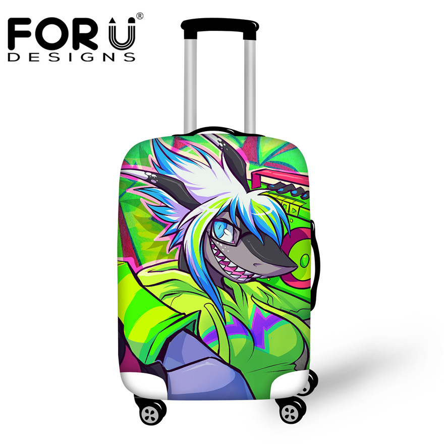 New Design 6 Style Travel Luggage Protective Dust Cover Stretch Graffiti Print Suitcase Cover to 18-30 Inch Trunk Suitcase Case