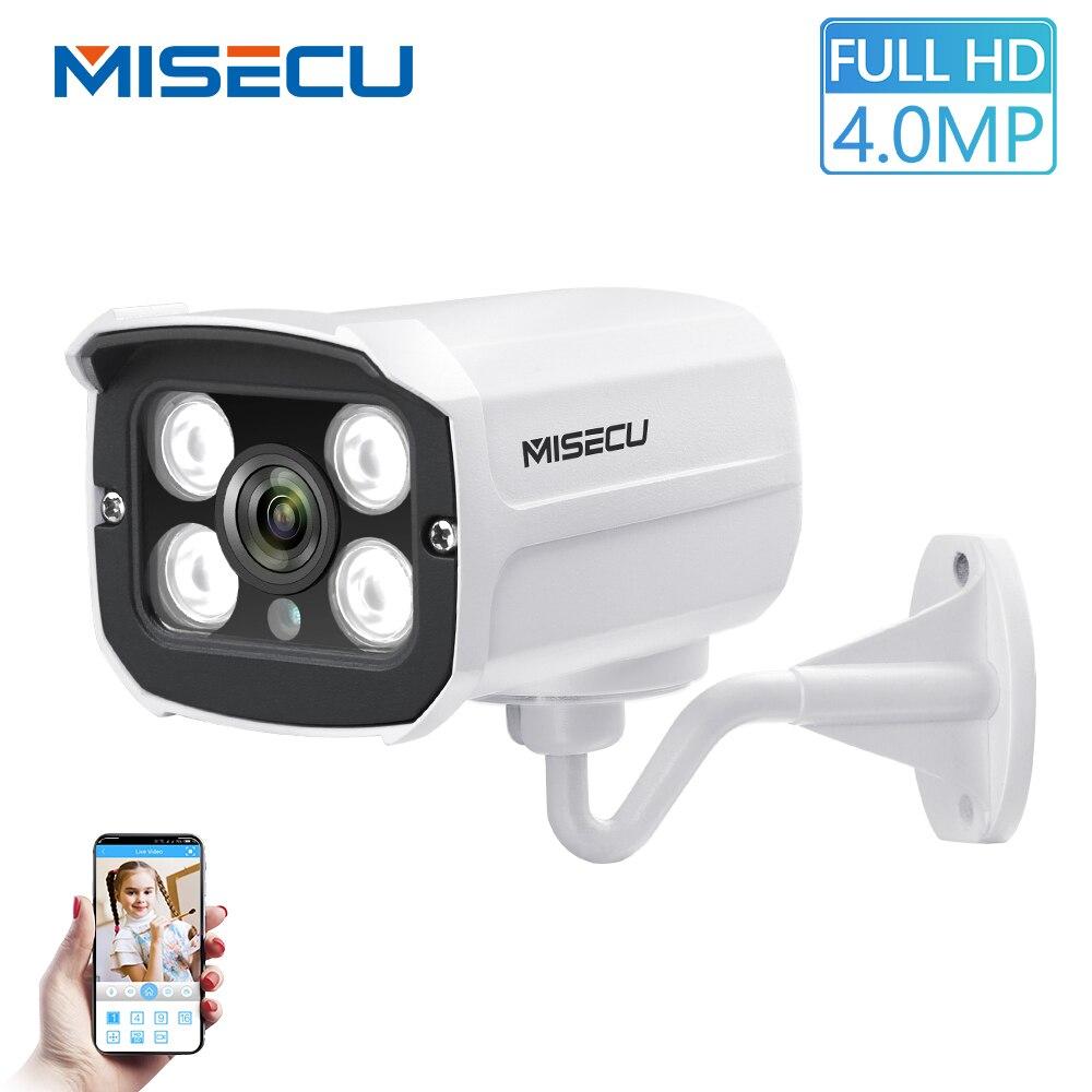 MISECU H.265 наблюдения POE IP Камера 5MP/4MP/3MP водонепроницаемый уличный для видеонаблюдения Камера с 4 шт Массив ИК-светодиодный ONVIF оповещение по эл...