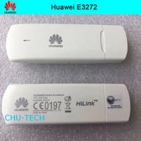 100pcs/lot DHL free Unlocked Huawei E3272 150Mbps LTE 4G USB Modem