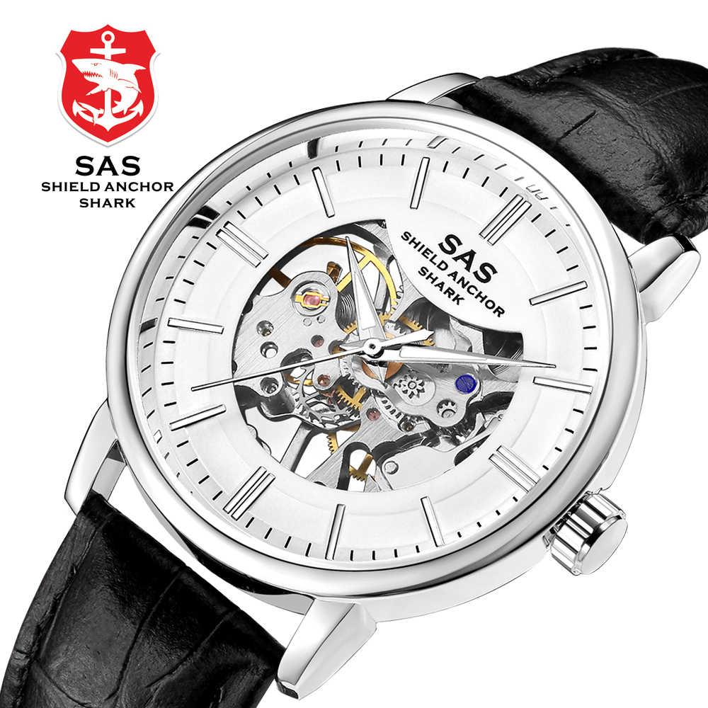 f25dcdadf New Arrival Mechanical Wrist watch Men Simple Fashion Hand-winding Watch  Waterproof Hollowed Relogio Skeleton