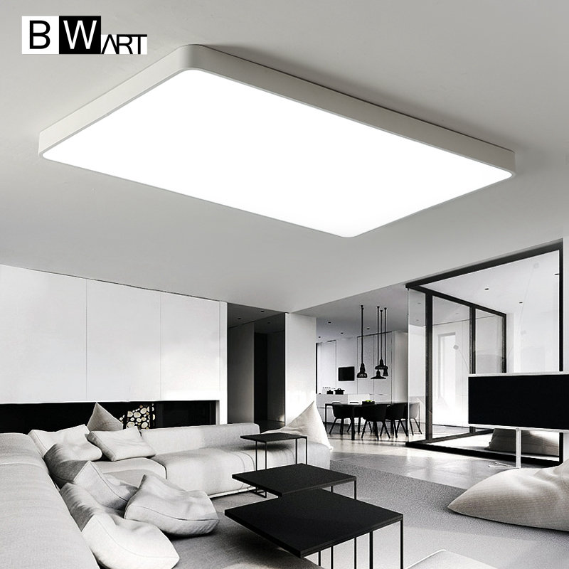 BWART New rectangle Modern led ceiling lights for living room bedroom Plafon led home Lighting ceiling lamp home fixtures リビング シャンデリア