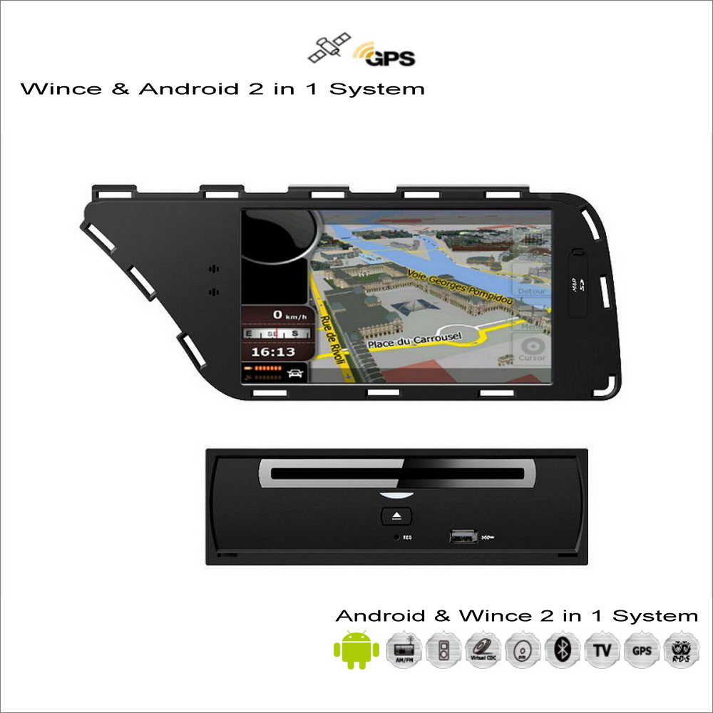 for audi a4 a5 2008 2013 car android multimedia radio cd dvd player gps navi map navigation. Black Bedroom Furniture Sets. Home Design Ideas