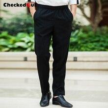 Удобные дешевые эластичные поясные черные брюки шеф-повара унисекс униформа для ресторана брюки питания брюки для повара