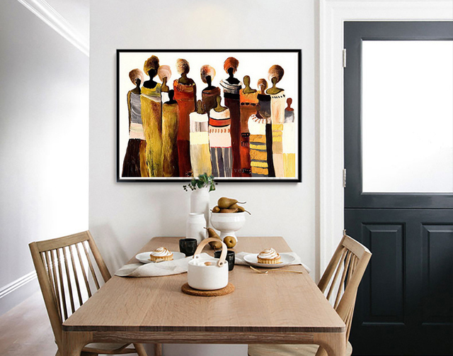 Afrikanische Frauen Malerei Wand Kunst Bild Abstrakte Kunst Moderne  Leinwand Malerei Handgemalte ölgemälde Für Wohnzimmer Große