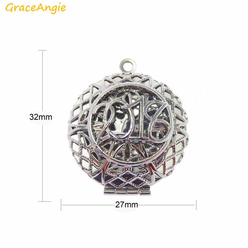 Graceangie 1pc openable pendant shiny silver color zinc - Lucky color for new year 2019 ...