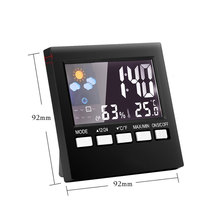 Multifunction Colorful Digital Weather Forecast Station Alarm Clock Thermometer Hygrometer Calendar Display LCD Snooze Clocks