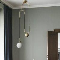 북유럽 Modern LED 펜 던 트 등 대 한 Dining 룸 레스토랑 빛 Simple 침실 Hanglamp (gorilla Glass) 볼 걸 이식 LED Lamps Fixtures