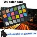 Profissional 24 Cor Do Cartão Cartão de Teste para Correção de Cor Superior Digital Photo Studio Acessórios