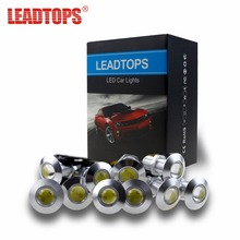 Фотография 10pcs 100% Ultra Thin 2.3CM 12V LED DRL Auto Daytime Running Lights Eagle Eye Cars Light Source For Ford/Toyota/kia/mazda 6/audi
