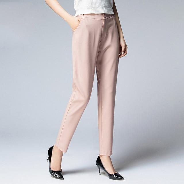 Black Women Pants Harem White Plus Size Loose Cropped Pants Women Casual Visavis Pantacourt Office Trousers Plus Size 60K012