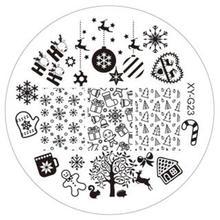 Christmas 1PC Fashion DIY Polish Beauty Nail Art Image Stamp Stamping Plates 3D Nail Art Templates Stencils Manicure Tools