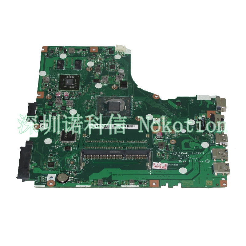 NOKOTION A4WAR LA-C351P NBMYC11001 NB.MYC11.001 laptop motherboard For acer aspire E5-422G Main board full tested