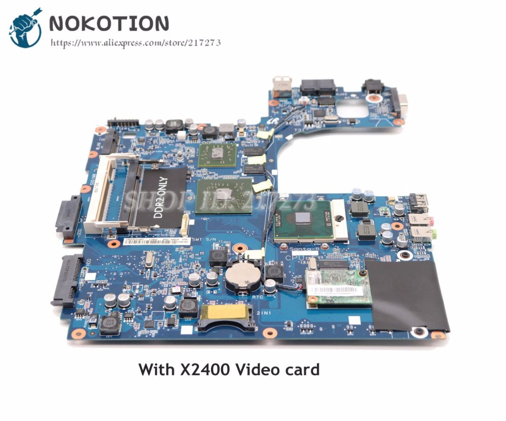 NOKOTION For Samsung R60 NP-R60 <font><b>Laptop</b></font> Motherboard X2400 Graphics Free CPU BA92-04962A BA92-04962B image