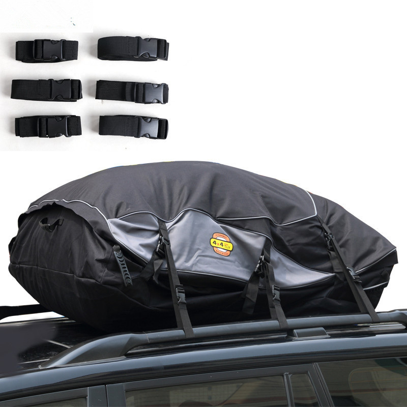 Car Waterproof Roof Luggage Bag Cargo Carrier Exterior Bag Roof Top Rack Mount For Auto Travelling Size M/L Exterior Parts цена