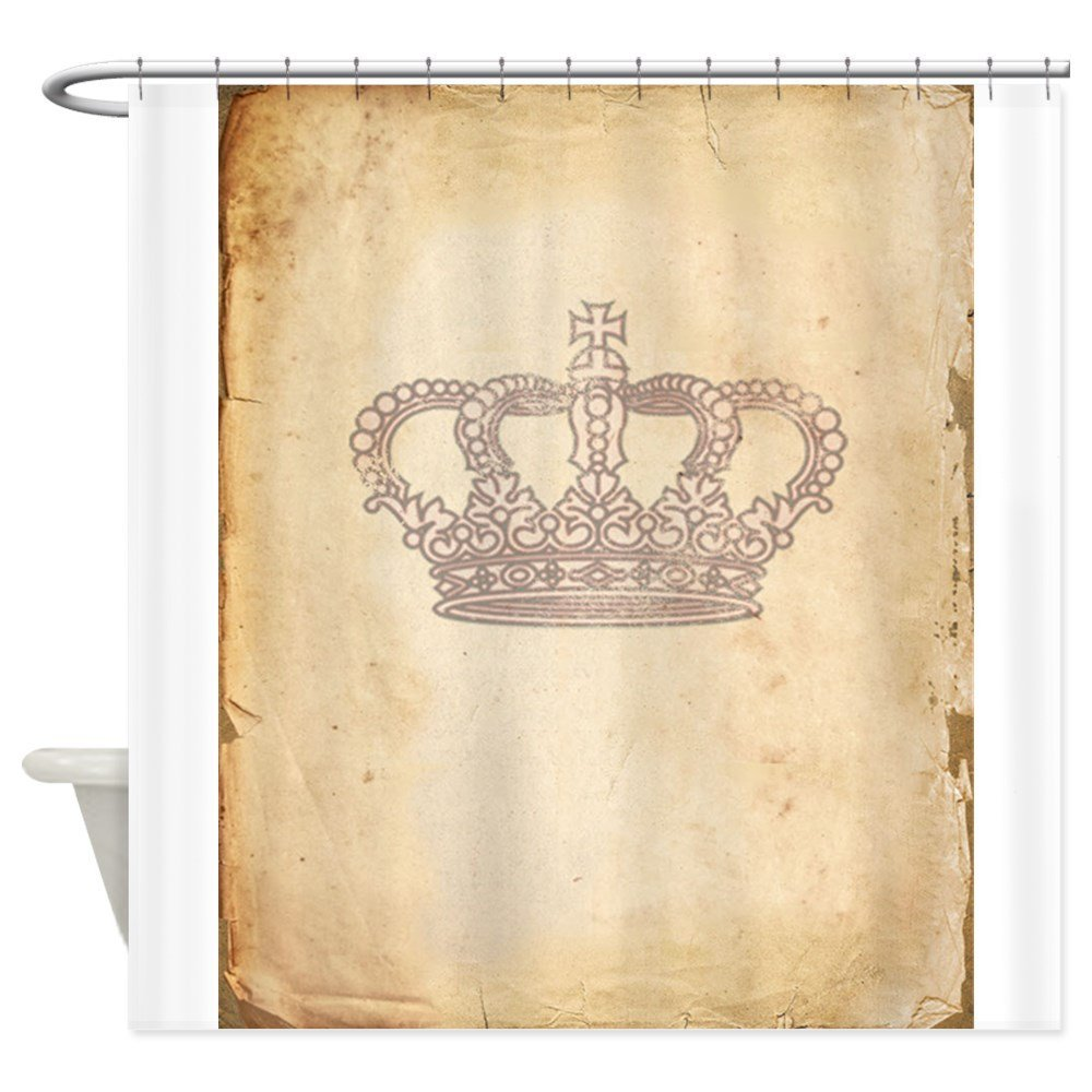 Vintage Pink Royal Crown - Decorative Fabric Shower Curtain (69x70)