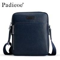 Padieoe модельер бренда Для мужчин сумка Пояса из натуральной кожи одно плечо Кроссбоди Для мужчин Курьерские сумки