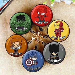 Cute Spiderman Mini Bag Cartoon Batman Ironman Coin Purse kids Girls Wallet Earphone Box Bags Wome Wedding Gift Christmas Gift(China)