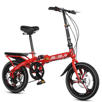 16/20inch adult bicycle 7speed folding bike 3 knife wheel and 5 knife wheel bicycle Men's and women's bike