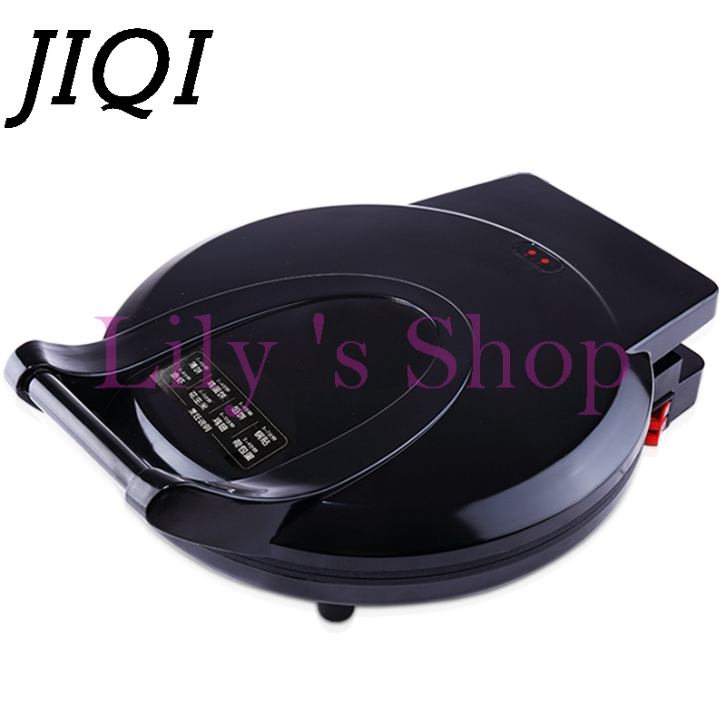 Electric Crepe Maker multifunction Pizza pan Pancake baking frying Machine two sides electrical heating grill Griddle US EU plug 1pcs new arrival 40cm pan pancake griddle stove lpg commercial pancake machine pancake stove ship to your home