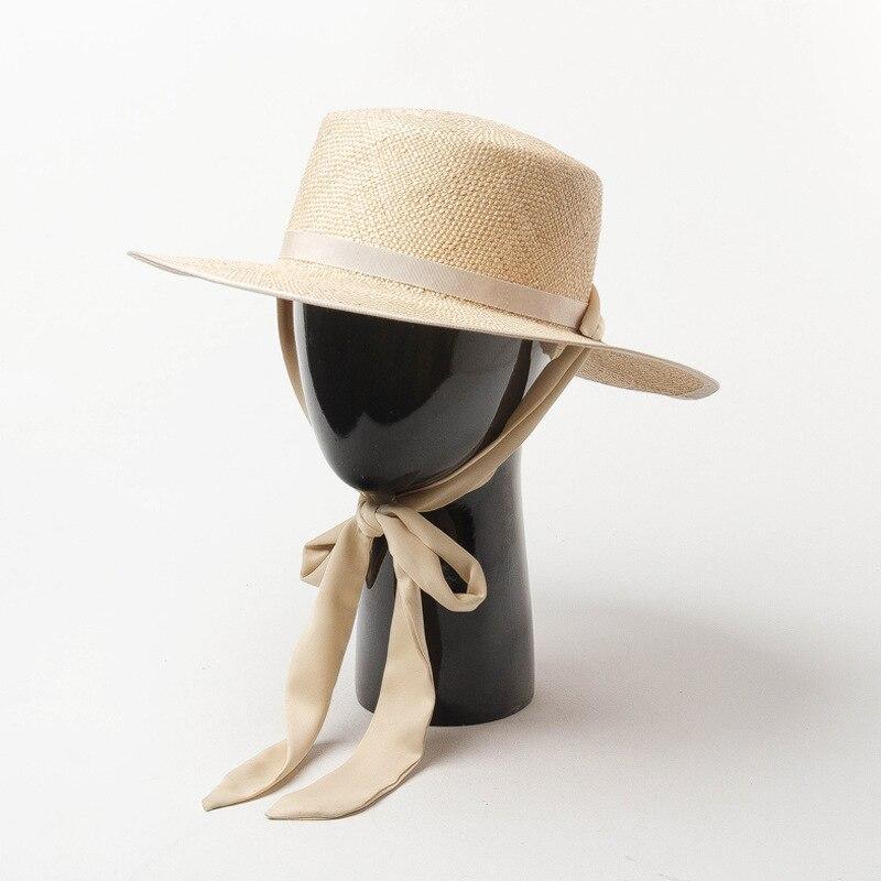 01901-HH7321 2019 nuevo diseño verano tesoro hierba tejido a mano Cinta Larga vacaciones Fedora gorra mujer ocio playa sombrero - 3