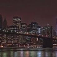 Jane's Carousel at the base of the bridge Brooklyn Bridge Manhattan New York City New York State USA 2011 (36 x 12)