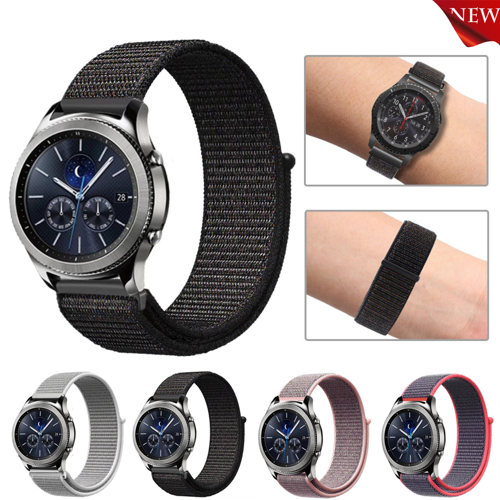 22mm Sports Loop Watch Bands For Samsung Gear S3 Frontier Classic strap smart watch Nylon Loop Woven wristband Watch Strap crested silicone strap for samsung gear s3 frontier rubber smart watch wristband