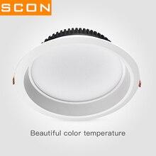 SCON AC110-240V LED embedded Anti-fog Downlight high CRI RA>85 6inch24W 8inch30W  3000K 4000K 6000K modern hotel home lamp