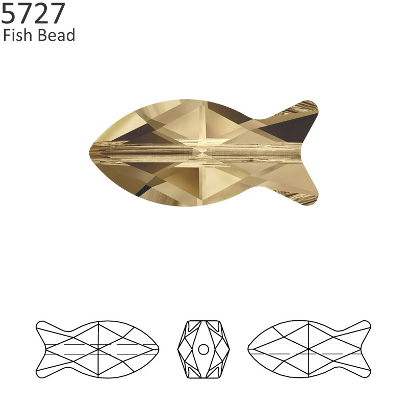 (1 piece) 100% Original Crystal from Swarovski 5727 Fish bead Made in  Austria a72098b88d99