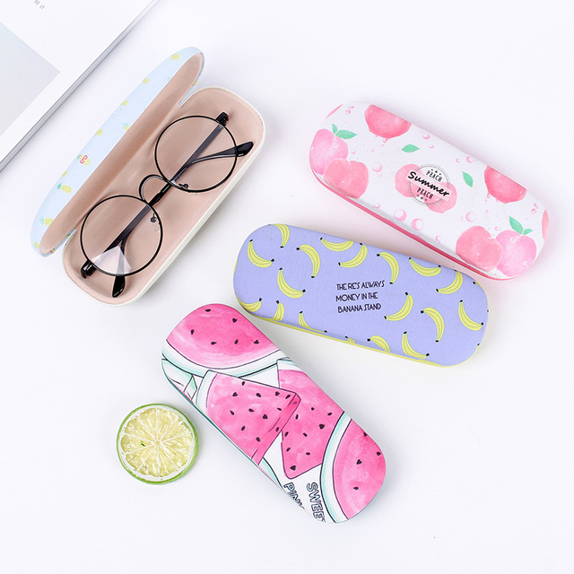 7f72b2065a27 Kawaii Sunglasses Case Box Protable Fruit Sunglasses Hard Eye Glasses Case  Eyewear Protector Box Pouch Bageyewear Accessories