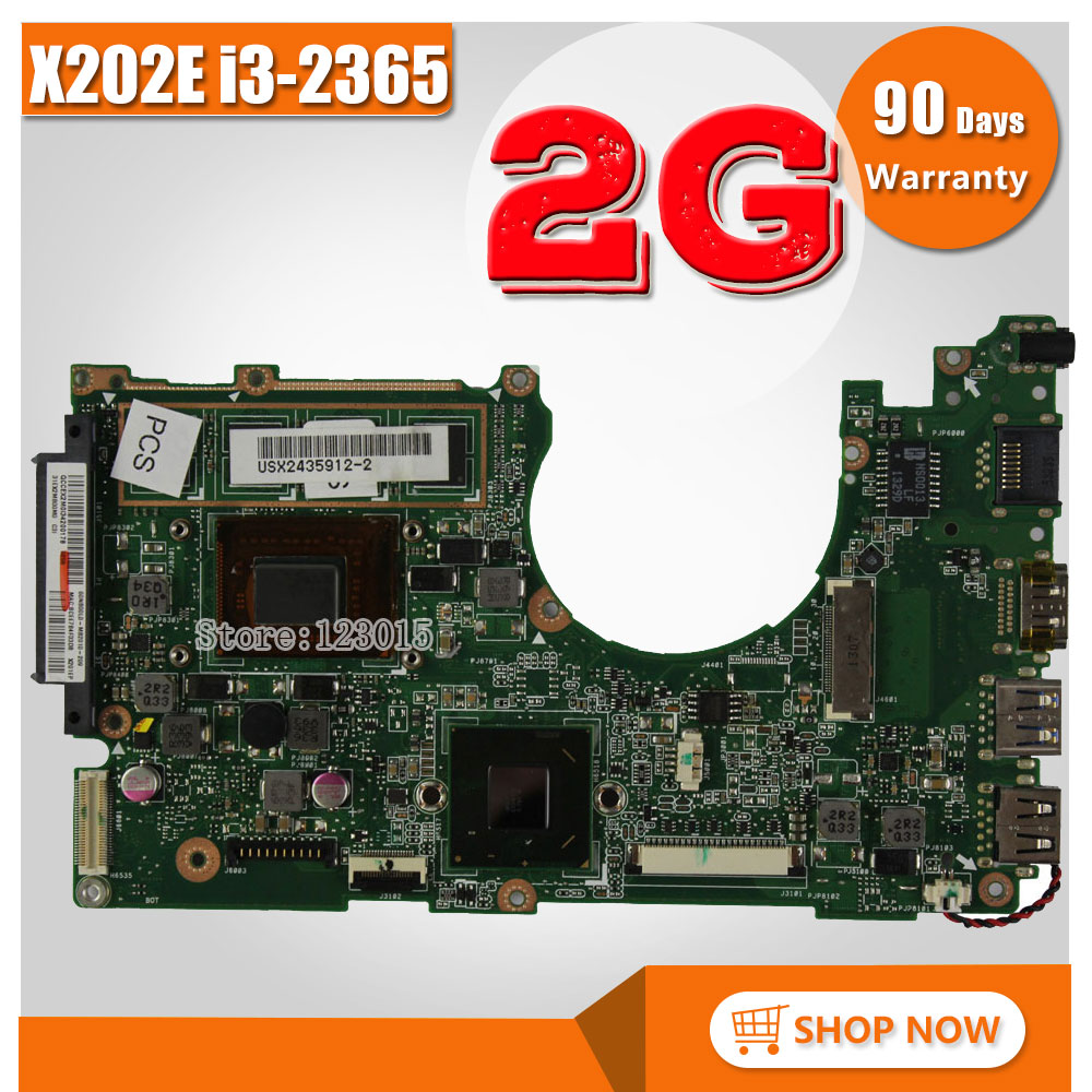 for ASUS X202E X201E S200E X202E 2GB REV 2.0 Motherboard Processor i3-2365 2G Memory On Board 100% Tested куклы и одежда для кукол феи винкс winx club кукла баттерфликс лейла 27 см