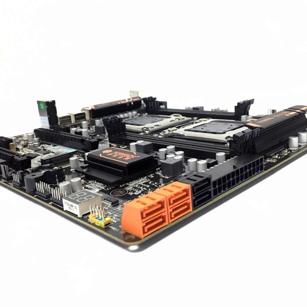 Huanzhi HUANANZHI X79 ثنائي وحدة المعالجة المركزية LGA2011 LGA 2011 اللوحة الأم مع المعالج المزدوج ddr3مناسبة لوحدة المعالجة المركزية الخادم وذاكرة الخادم
